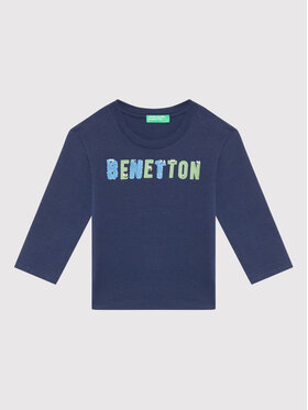 United Colors Of Benetton United Colors Of Benetton Bluse 3ATNC15F2 Dunkelblau Regular Fit