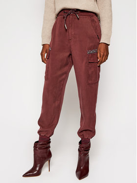 Desigual Desigual Pantalon en tissu Greta 20WWPN08 Bordeaux Regular Fit