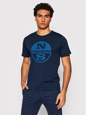 North Sails North Sails T-Shirt Organic 692752 Tmavomodrá Regular Fit