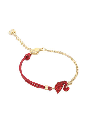 Swarovski Swarovski Apyrankė Iconic Swan Bracelet 5465403 Raudona