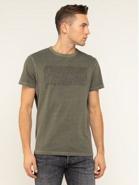 Pepe Jeans Pepe Jeans T-Shirt Billy PM506908 Πράσινο Regular Fit