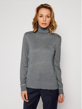Calvin Klein Calvin Klein Поло Ls Roll Neck K20K202244 Сив Regular Fit