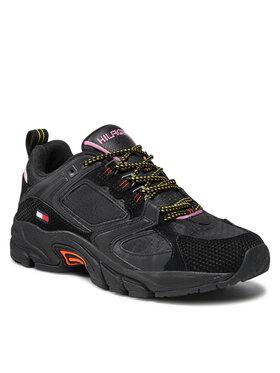 Tommy Jeans Tommy Jeans Sneakersy Wmns Archive Textile Mix Runner EN0EN01514 Czarny