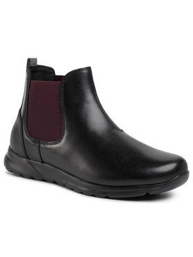 Geox Geox Kotníková obuv s elastickým prvkem U Damian B U940HB 043B CC0241 Černá