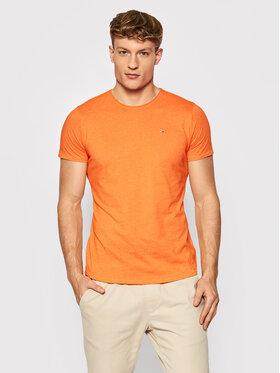 Tommy Jeans Tommy Jeans T-Shirt Jaspe DM0DM09586 Orange Slim Fit