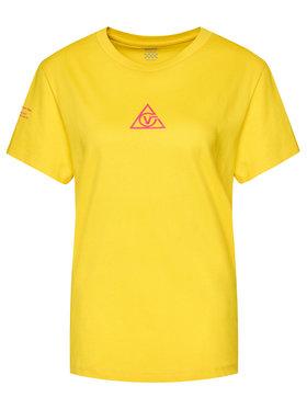 Vans Vans T-Shirt Tri Boyfriend VN0A4SCY Żółty Regular Fit