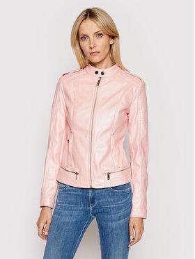 Guess Guess Kožená bunda New Tammy W1GL17 WDTZ0 Ružová Regular Fit