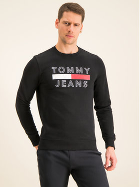 Tommy Jeans Tommy Jeans Felpa Tjm Essential Graphic Crew DM0DM07413 Nero Regular Fit