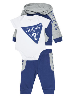 Guess Guess Completo felpa, body e pantalone tuta P0YG06 KA6W0 Blu scuro Regular Fit