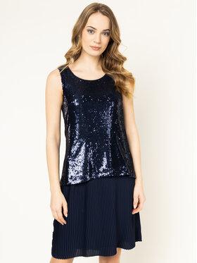 Trussardi Trussardi Koktel haljina Paillettes 56D00332 Tamnoplava Regular Fit