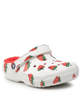 Crocs Crocs Παντόφλες Classic Lined Vacay Vibes 207301 Λευκό