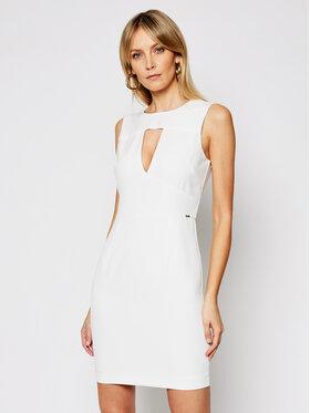 Guess Guess Коктейлна рокля W1GK0S WB4H2 Бял Slim Fit