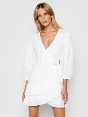 Melissa Odabash Melissa Odabash Sukienka plażowa Aliyah SS Biały Relaxed Fit