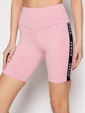 Guess Guess Szorty sportowe O1GA07 KABR0 Różowy Slim Fit