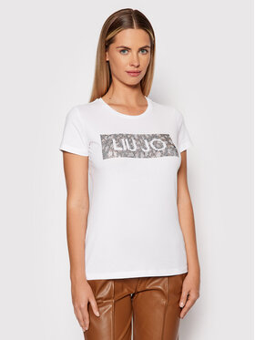 Liu Jo Liu Jo T-Shirt WF1434 J5003 Bílá Regular Fit