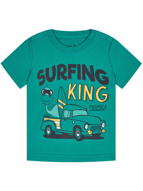 Primigi Primigi T-Shirt Surfing King 45221011 Zielony Regular Fit
