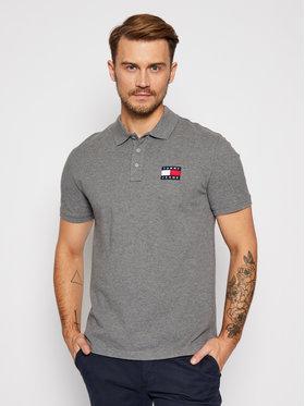 Tommy Jeans Tommy Jeans Тениска с яка и копчета Badge DM0DM09444 Сив Regular Fit