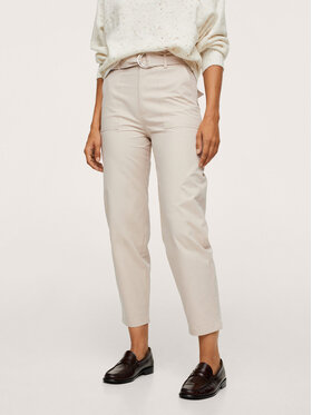 Mango Mango Spodnie materiałowe Lolo 17026323 Beżowy Regular Fit