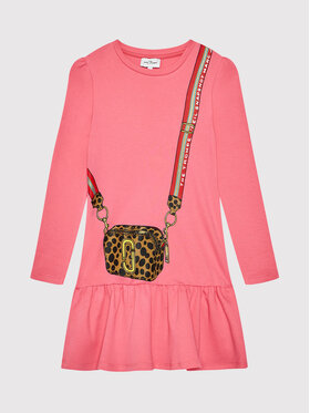 Little Marc Jacobs Little Marc Jacobs Sukienka codzienna W12379 D Różowy Regular Fit