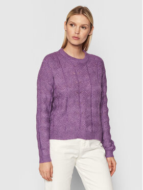 Vero Moda Vero Moda Sweter Stinna 10253212 Fioletowy Relaxed Fit