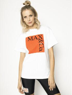 MAX&Co. MAX&Co. Marškinėliai Tee 49719620 Balta Oversize