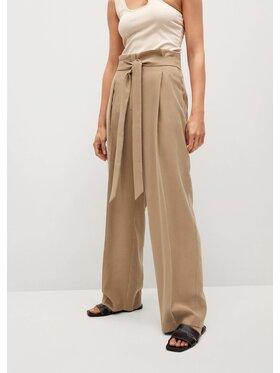 Mango Mango Pantaloni din material Camelia 87085668 Bej Regular Fit