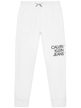 Calvin Klein Jeans Calvin Klein Jeans Donji dio trenerke Hybrid Logo IB0IB00780 Bijela Regular Fit
