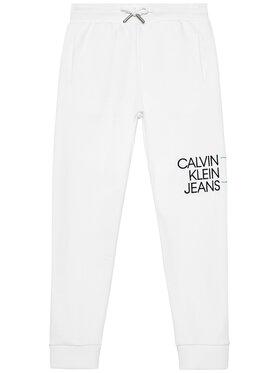 Calvin Klein Jeans Calvin Klein Jeans Pantaloni da tuta Hybrid Logo IB0IB00780 Bianco Regular Fit