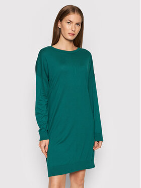 United Colors Of Benetton United Colors Of Benetton Džemper haljina 102MV1O97 Zelena Regular Fit