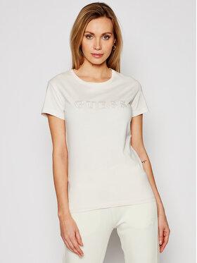 Guess Guess T-Shirt O1GA05 K8HM0 Beżowy Regular Fit