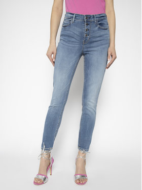 Guess Guess Jean Skinny Fit 1981 Exposed Button W01A28 D38RA Bleu Skinny Fit