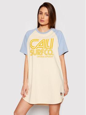 Superdry Superdry Kleid für den Alltag Cali Surf Raglan W8010812A Gelb Regular Fit