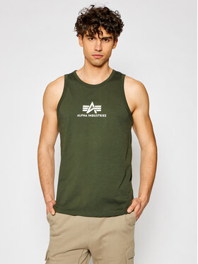 Alpha Industries Alpha Industries Tank top Basic 126566 Zelená Regular Fit