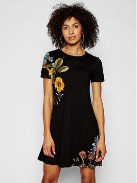 Desigual Desigual Každodenné šaty Las Vegas 21SWVKAG Čierna Regular Fit