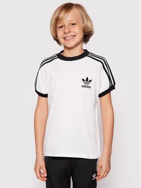 adidas adidas Marškinėliai 3Stripes Tee DV2901 Balta Regular Fit