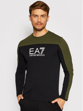 EA7 Emporio Armani EA7 Emporio Armani Majica dugih rukava 6KPT11 PJ7CZ 0200 Crna Regular Fit