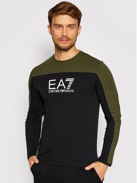 EA7 Emporio Armani EA7 Emporio Armani Тениска с дълъг ръкав 6KPT11 PJ7CZ 0200 Черен Regular Fit