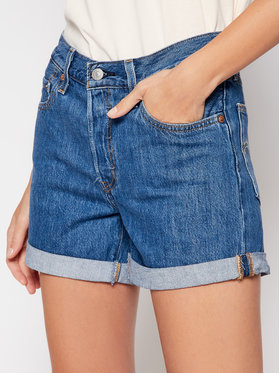 Levi's® Levi's® Jeansshorts 501® Flat Finish 29961-0021 Dunkelblau Regular Fit