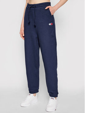 Tommy Jeans Tommy Jeans Pantaloni trening Tjw Hrs Badge DW0DW09740 Bleumarin Relaxed Fit