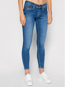 Tommy Jeans Tommy Jeans Džinsai Scarlett DW0DW10292 Tamsiai mėlyna Skinny Fit