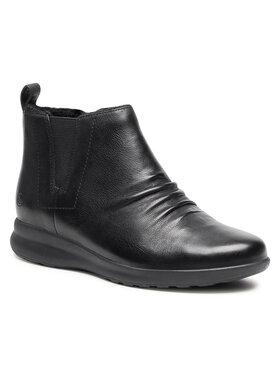 Clarks Clarks Členková obuv Un Adorn Mid2 261525704 Čierna