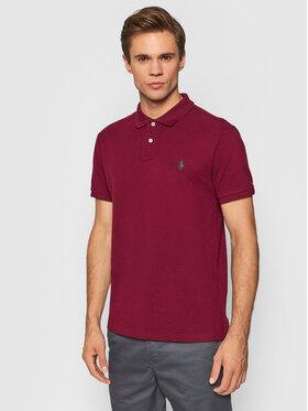 Polo Ralph Lauren Polo Ralph Lauren Тениска с яка и копчета 710536856295 Бордо Slim Fit
