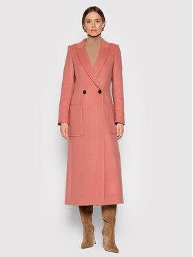TWINSET TWINSET Manteau en laine 212TP2181 Rose Straight Fit