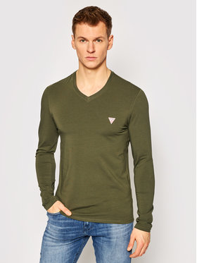 Guess Guess Тениска с дълъг ръкав M1RI08 J1311 Зелен Super Slim Fit