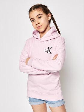 Calvin Klein Jeans Calvin Klein Jeans Bluza Small Monogram IU0IU00164 Różowy Regular Fit
