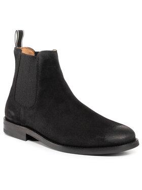 Gant Gant Členková obuv s elastickým prvkom Sharpville 21653035 Čierna