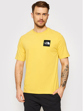 The North Face The North Face T-shirt Masters Of Stone NF0A492IZBJ1 Žuta Regular Fit