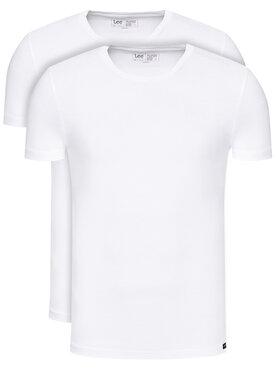 Lee Lee Komplet 2 t-shirtów L680CM12 Biały Regular Fit