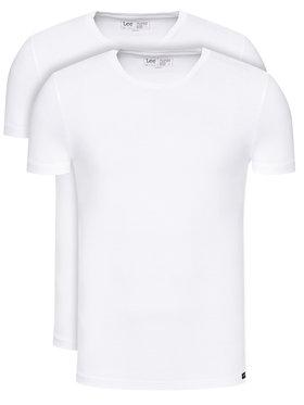Lee Lee Set 2 majice L680CM12 Bijela Regular Fit