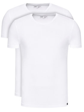 Lee Lee Set di 2 T-shirt L680CM12 Bianco Regular Fit